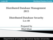 Lect 09 Distributed Database Security.pptx