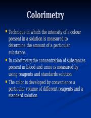 Analytical biochem ppt IV colorimetry.ppt
