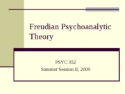 Psychoanalytic Theory and Personality POST