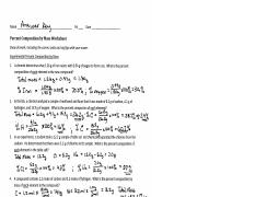 Percent Composition by Mass Worksheet.pdf - Name Pd Date ...