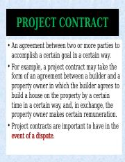 Project contracts, May 2018.ppt