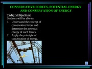 Conservation of Energy (Ch 14.5-14.6)