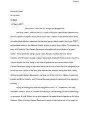 The Soldier's Play Essay