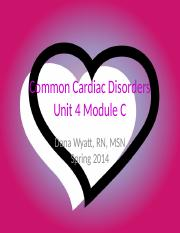 Common Cardiac Disorders Spring 2014.pptx