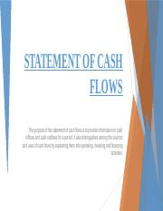 CASHFLOWS ANALYSIS