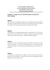 fina0301 tutorial 1 the university of hong kong faculty of business and economics fina0301/fina2322 - derivatives general information semester 1 fina0301ab/fina2322ab.