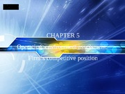 Chapter5      Firm's competitive position