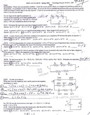 phys spring 2006 key exam2 p1