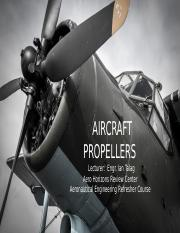 Aircraft Propellers (Aero Horizons Review).pptx