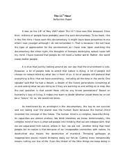 reflection paper sample tagalog