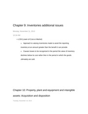 Chapter 9 and 10 Notes