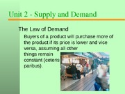 Unit2 Supply and Demand