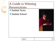 A Guide to Winning Presentations