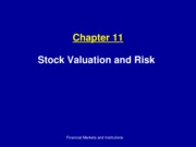 Ch11_Stock valuation and risk