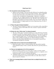 Final Exam Review Questions and Answers