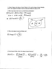 Solutions to Exam 3,Ma441, Spr05 (change the 0.70 to 0.50 in problem 1)