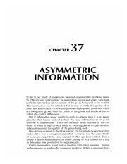 37 Asymmetric Information