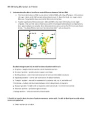 5-8-13 Nucleic acids  Lecture 1e  RNA, proteins Student notes