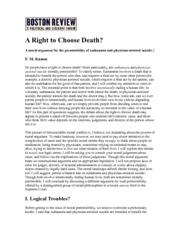 Kamm - A Right To Choose Death
