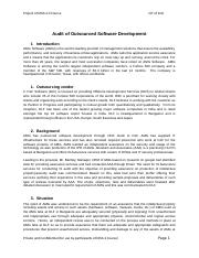 4. Audit of Outsourced Software Development.docx