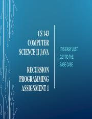 CS143 Programming Assignment  Recursion.pdf