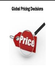 9-2. Global Pricing Decisions