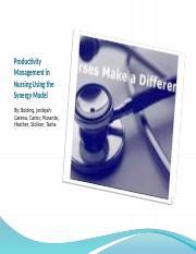 CLC Presentation pptx - Productivity Management in Nursing