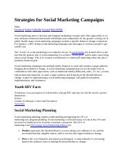 Strategies for Social Marketing Campaigns.docx