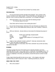 the third and final continent summary Ncert solution chapter 6 - the third and final continent , woven words, english, class 11 | edurev.