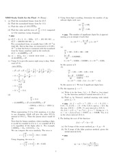Exam 4 Study Guide Solution Fall 2007 on Engineering Mathematics III (Numerical Methods)
