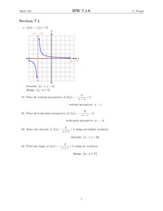 Chapter 7 Homework Solutions