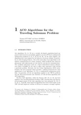 ACO Algorithms for the X