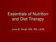 Essentials of Nutrition and Diet Therapy