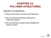 Chapter 14- Polymer Structures