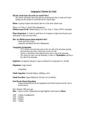 Geog 5 Final Review Study Guide