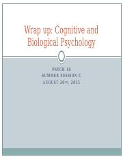 Week 3 Lecture 2 Cognitive and Biological Wrapup FS