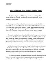 Why should we keep daylight saving time.docx