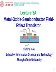 EE113 Lecture 3A-MOSFET