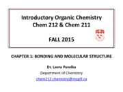 CHAPTER 1- BONDING AND MOLECULAR STRUCTURE