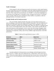 Food Microbiology Student Report - Hurdle Technologies