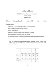 Midterm 1 2012 Answers
