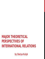Major theoretical perspectives of IR
