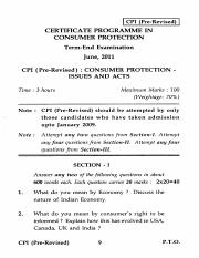 (www.entrance-exam.net)-IGNOU Consumer Protection - Issues and Acts Sample Paper 6