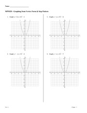 Graphing from Vertex Form & Step Pattern