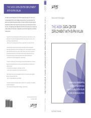TW_DCDeployment v2 pdf - understanding of EVPN/VXLAN technology
