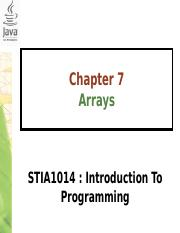 Chapter7-Arrays (1)