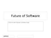 Future of Software