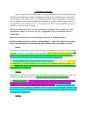 The Academic Paragraph worksheet with highlights.docx
