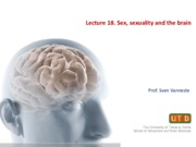 Lecture 18. Sex, Sexuality and the Brain