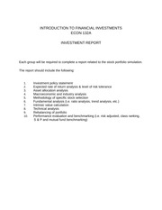 Econ132a Investment Report Project
